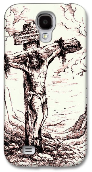 Crucifixtion Galaxy S4 Cases - Lamb of God Galaxy S4 Case by Rachel Christine Nowicki