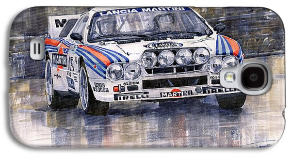 Car Galaxy S4 Case - Lancia 037 Martini Rally 1983 by Yuriy Shevchuk