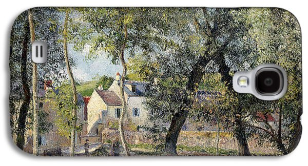 Landscape At Osny Near The Drinking Trough Galaxy S4 Case by Camille Pissarro