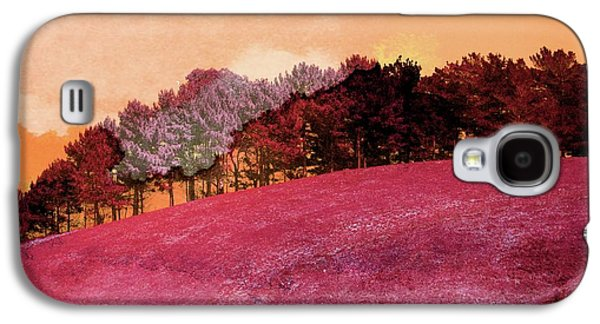 Landscape In Red Galaxy S4 Case by Contemporary Art