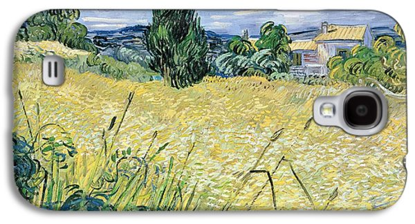 Landscape With Green Corn Galaxy S4 Case by Vincent Van Gogh