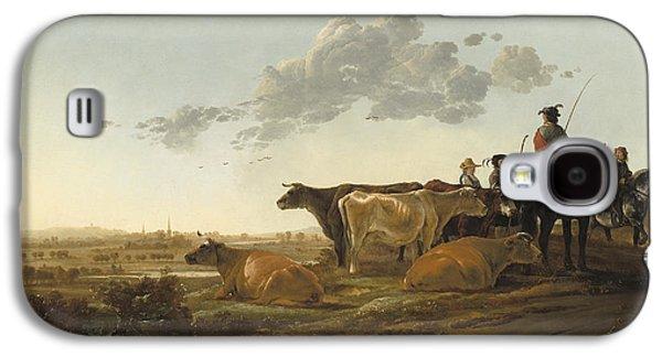 Landscape With Herdsmen Galaxy S4 Case