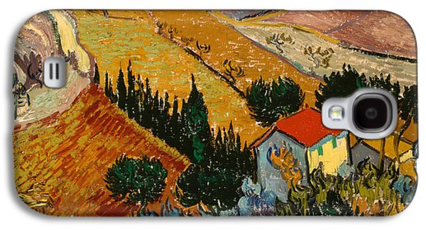 Landscape With House And Ploughman Galaxy S4 Case by Vincent Van Gogh