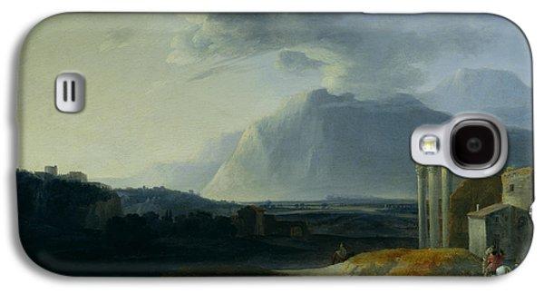 Landscape With Mount Stromboli Galaxy S4 Case by Willem Schellinks