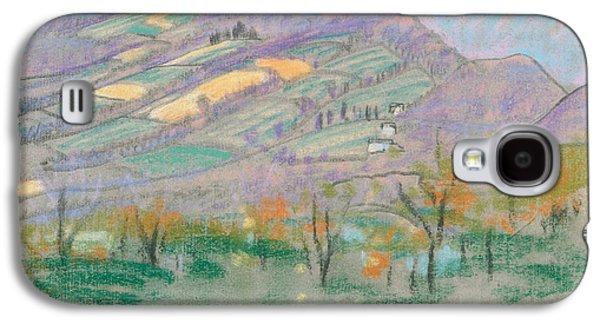 Landscape With Purple Mountains  Galaxy S4 Case by Arthur Bowen Davies