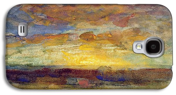 Landscape With Setting Sun Galaxy S4 Case by Auguste Francois Ravier