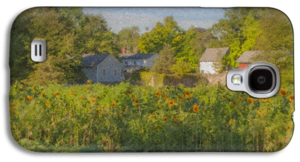 Langwater Farm Sunflowers And Barns Galaxy S4 Case by Bill McEntee