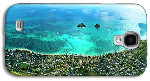 Helicopter Galaxy S4 Case - Lanikai Over View by Sean Davey