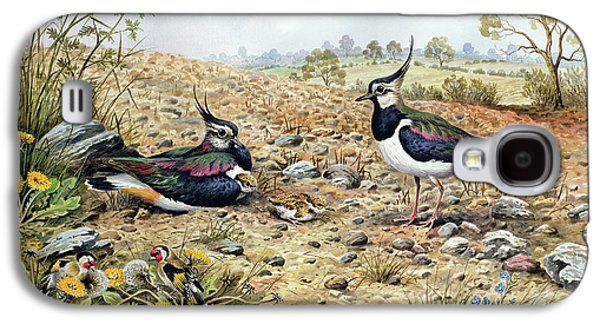 Lapwing Family With Goldfinches Galaxy S4 Case