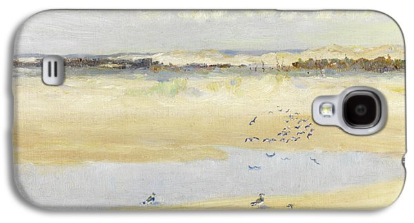 Lapwings By The Sea Galaxy S4 Case by William James Laidlay
