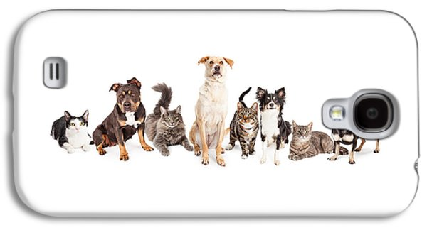 Large Group Of Cats And Dogs Together Galaxy S4 Case