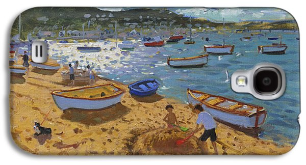 Large Sandcastle Teignmouth Galaxy S4 Case by Andrew Macara