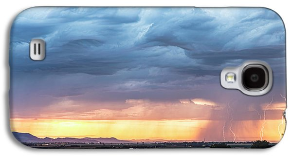 Larimer County Colorado Sunset Thunderstorm Galaxy S4 Case by James BO Insogna
