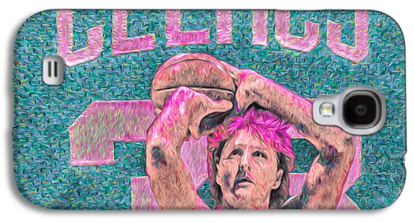 Larry Bird Boston Celtics Digital Painting Pink Galaxy S4 Case