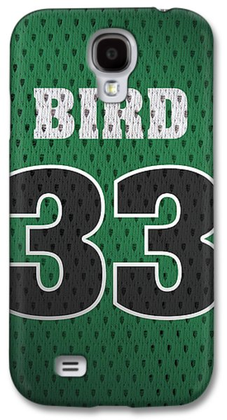 Larry Bird Boston Celtics Retro Vintage Jersey Closeup Graphic Design Galaxy S4 Case