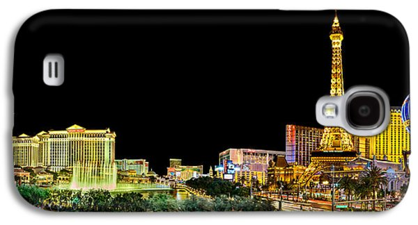 Las Vegas At Night Galaxy S4 Case by Az Jackson