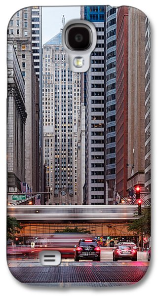 Lasalle Street Canyon With Chicago Board Of Trade Building At The South Side II - Chicago Illinois Galaxy S4 Case by Silvio Ligutti