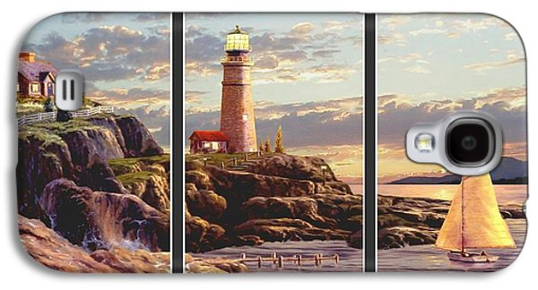 Last Light Split Image Galaxy S4 Case by Ron Chambers