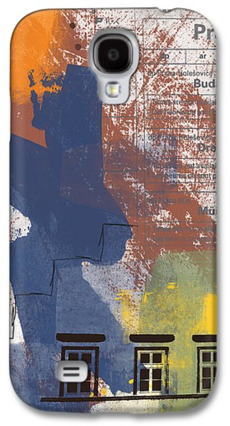 Train Galaxy S4 Case - Last Train To Prague- Art By Linda Woods by Linda Woods