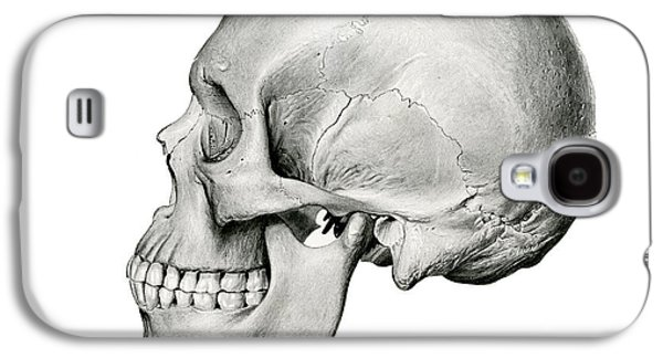 Lateral View Of Human Skull Galaxy S4 Case by German School