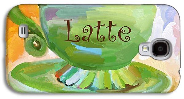 Latte Coffee Cup Galaxy S4 Case by Jai Johnson