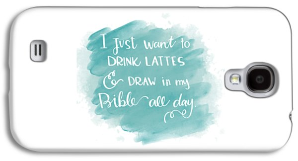 Lattes And Draw Galaxy S4 Case by Nancy Ingersoll