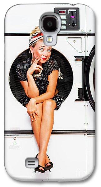 Laundromat Pin-up Portrait Galaxy S4 Case
