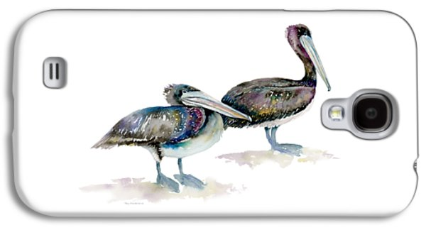 Laurel And Hardy, Brown Pelicans Galaxy S4 Case by Amy Kirkpatrick