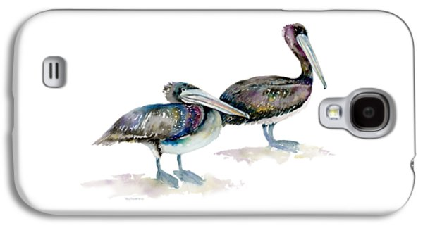Laurel And Hardy, Brown Pelicans Galaxy S4 Case