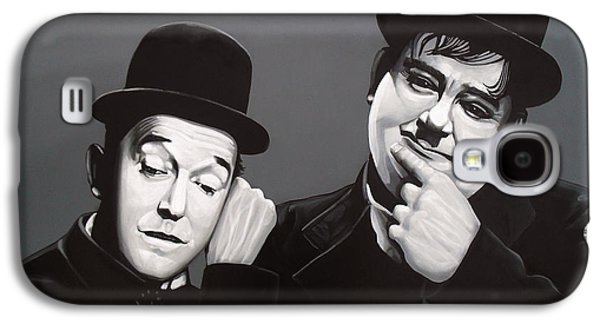 Laurel And Hardy Galaxy S4 Case by Paul Meijering