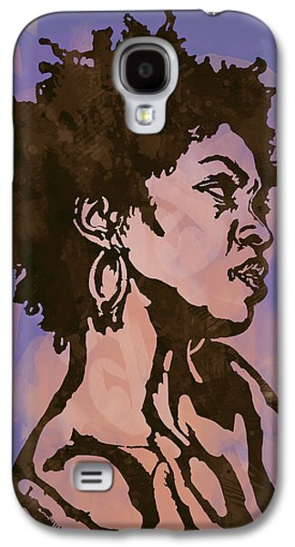 Lauryn Hill Pop Stylised Art Sketch Poster Galaxy S4 Case by Kim Wang