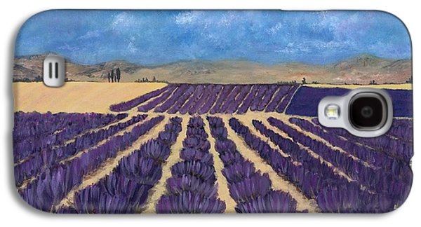Galaxy S4 Case featuring the painting Lavender Field by Anastasiya Malakhova