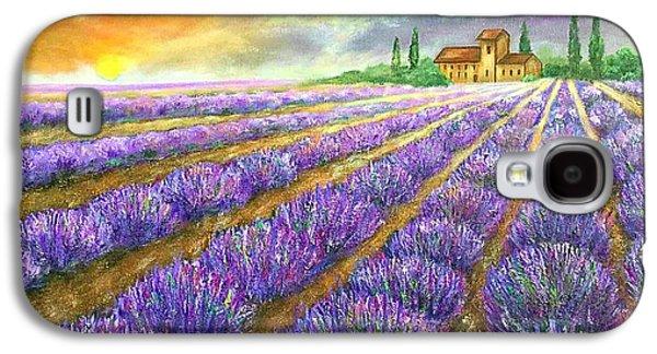 Lavender Field Galaxy S4 Case by Viktoriya Sirris
