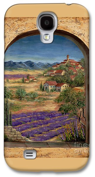 Lavender Fields And Village Of Provence Galaxy S4 Case