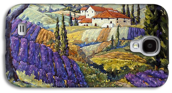 Lavender Fields Tuscan By Prankearts Fine Arts Galaxy S4 Case by Richard T Pranke