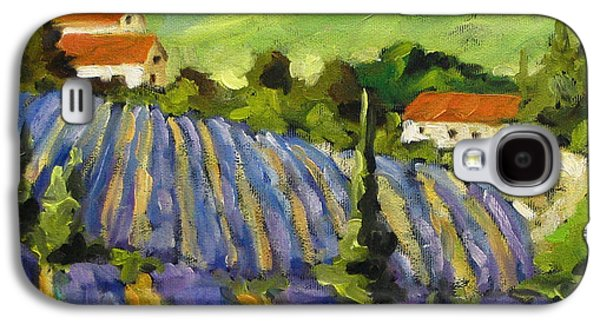 Canadiens Paintings Galaxy S4 Cases - Lavender Scene Galaxy S4 Case by Richard T Pranke