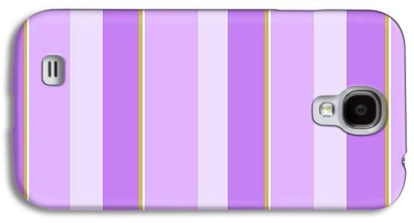 Lavender Stripe Pattern Galaxy S4 Case by Christina Rollo