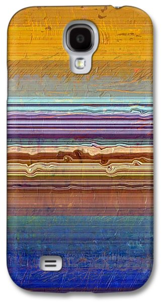 Layers With Orange And Blue Galaxy S4 Case by Michelle Calkins