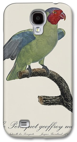 Le Perroquet Geoffroy Male / Red Cheeked Parrot - Restored 19th C. By Barraband Galaxy S4 Case by Jose Elias - Sofia Pereira
