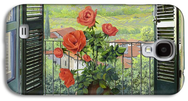 Rose Galaxy S4 Case - Le Persiane Sulla Valle by Guido Borelli