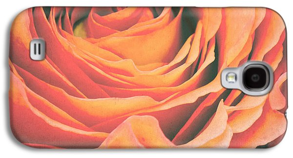 Rose Galaxy S4 Case - Le Petale De Rose by Angela Doelling AD DESIGN Photo and PhotoArt