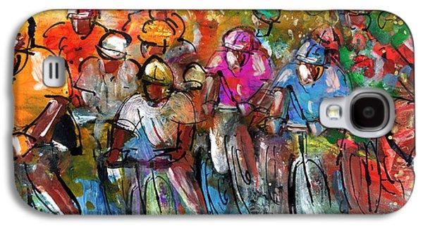 Le Tour De France Madness 03 Galaxy S4 Case by Miki De Goodaboom