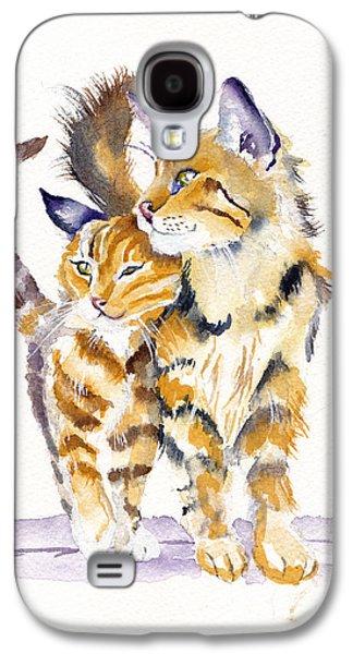 Cat Galaxy S4 Case - Lean On Me by Debra Hall