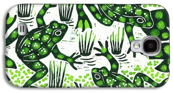 Leaping Frogs Galaxy S4 Case by Nat Morley