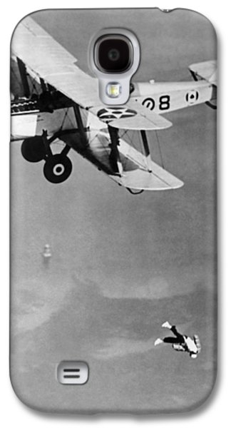 Leaping From Army Airplane Galaxy S4 Case by Underwood Archives