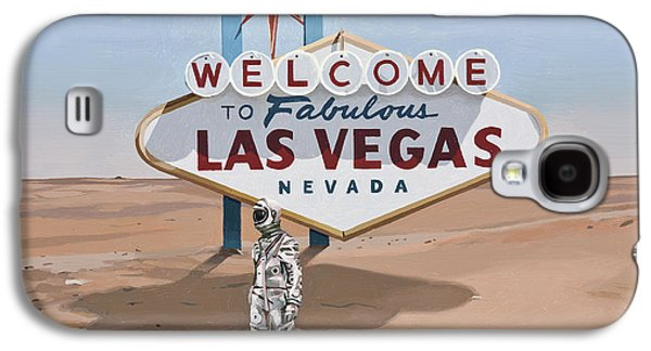 Galaxy S4 Case featuring the painting Leaving Las Vegas by Scott Listfield