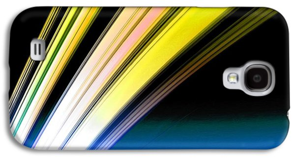 Leaving Saturn In Gold And Blue Galaxy S4 Case