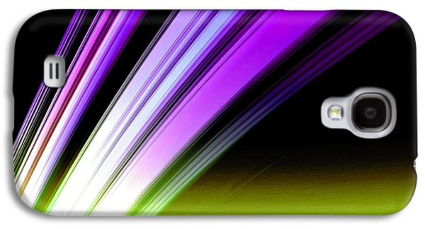 Leaving Saturn In Purple And Electric Green Galaxy S4 Case