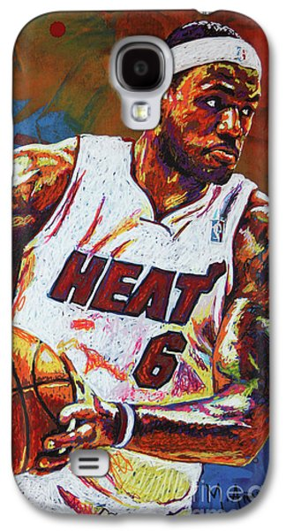 Lebron James 3 Galaxy S4 Case by Maria Arango