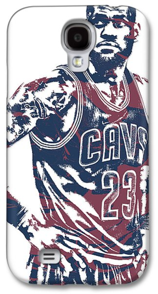 Lebron James Cleveland Cavaliers Pixel Art 25 Galaxy S4 Case